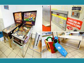 Waschcenter Nürnberg: Flipperautomat, Kaffeautomat, Kinderrutsche