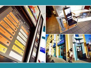Waschcenter Nürnberg: Kaffeverkaufsautomat, Vending-Automat, Verkaufsautomat und Massagesessel