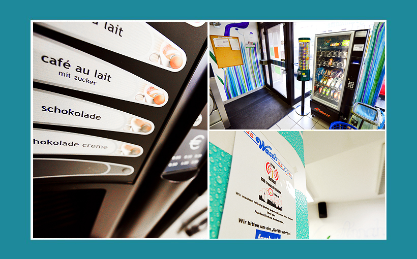 Waschcenter Schweinfurt: Wendingautomaten, Kaffemünzautomat, Snackautomat