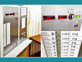 Waschsalon Bamberg: Warenautomat, Waschmaschinen-Zentralsteuerung von Timecontrol