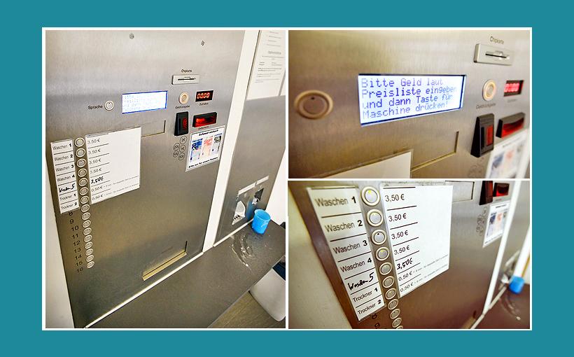 Waschsalon Bamberg: Zentralsteuerung, Kasse, Steuerungspanel von Timecontrol