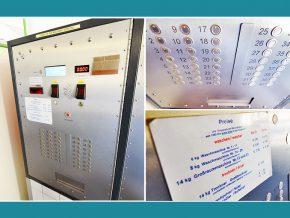 Waschsalon in Nürnberg: Waschmaschinen-Steuerung, Steuerungspanel, Zentralsteuerung der Firma Timecontrol