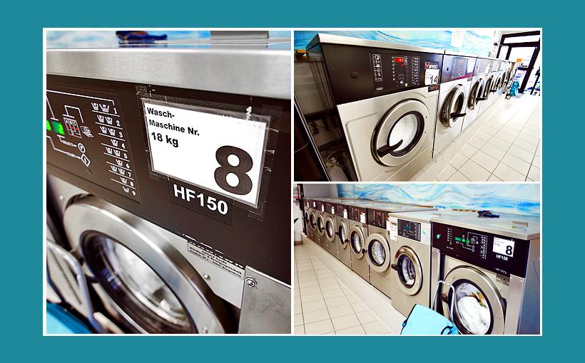 Waschsalon Wäscherei Schweinfurt: IPSO-Gewerbewaschmaschinen HF150 18Kg 6Kg