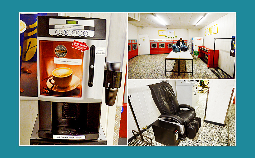 Waschsalon-Berlin-Kaffeautomat-Massagesessel