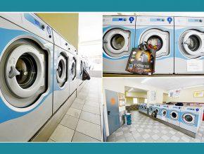 Waschsalon Waschtreff Frankfurt-am-Main, grosse Waschmaschinen