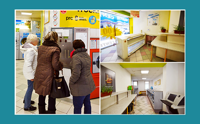 Waschcenter Nürnberg: Kunden an der Zentralsteuerung