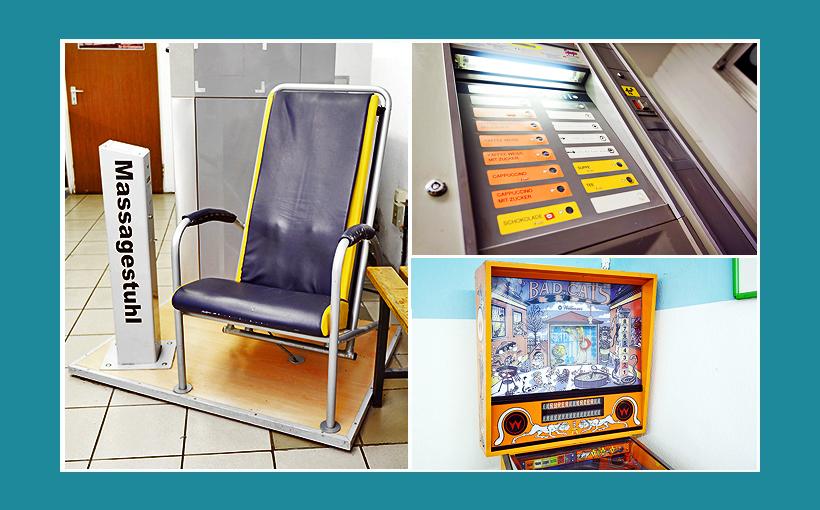 Waschsalon Nürnberg: Massagesessel, Spielautomat, Kaffe-Verkaufsautomat