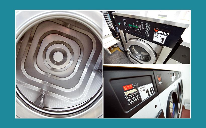 Waschsalon Bayreuth: 18Kg IPSO-Waschmaschinen, 12Kg Trockner