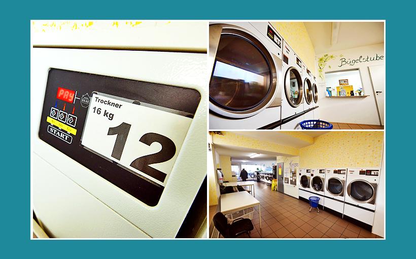 Waschsalon Erlangen - Große 16kg Gewerbetrockner-IPSO. Wäschereitrockner