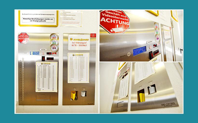 Zentralsteuerung-Kasse Waschsalon Berlin, Firma Timecontrol Jonny Jonas
