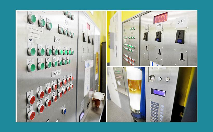 Zentralsteuerung für Waschsalon, Wäscherei