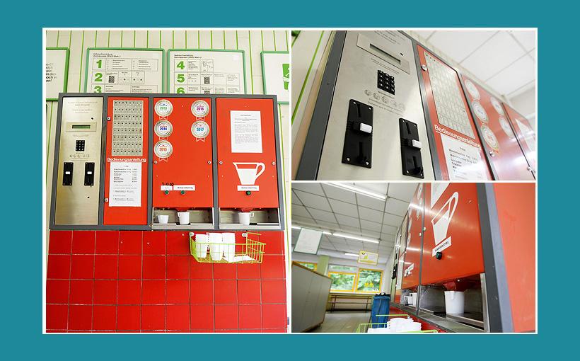 Waschsalon Bezahlautomat Waschmittelautomat