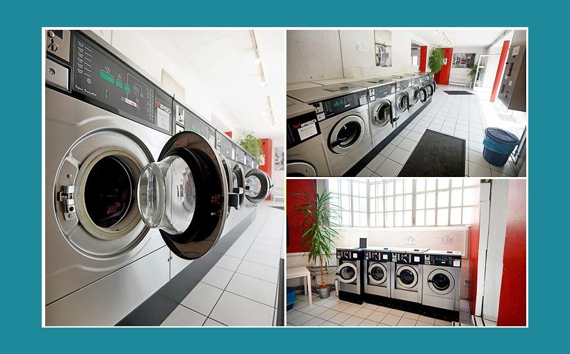 Waschsalon Münzwaschmaschinen